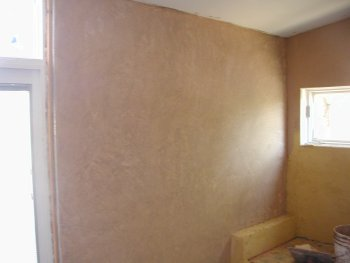 stucco shower and first                 stucco floor
